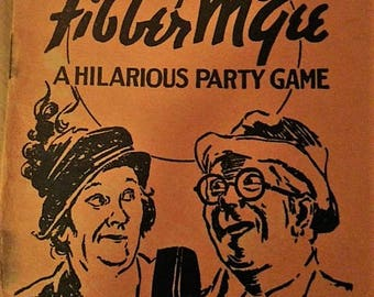 Fibber McGee Game Book and Game Cards from 1936