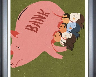 Piggy bankers, signed limited edition print