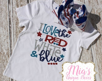 Toddler Red White and Blue, 4th Of July, Girls 4th of July