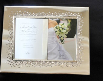invitation frames etsy Crystal Wedding Invitation Frame swarovski crystal embellished lenox devotion picture frames, invitation frame perfect for wedding gifts! High-End Elegant Wedding Invitations