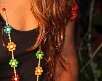 Colorful Acai Flower Necklace