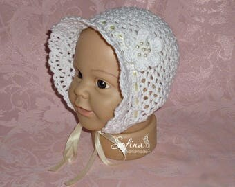 Master class hat for children* Мастер класс по вязанию чепчика капора для детей