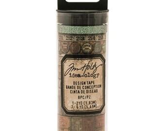 Tim Holtz - Idea-0logy Design Washi Tape - Set of 8 - Vintage