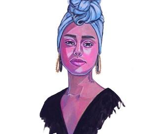 Alicia Keys -art print-
