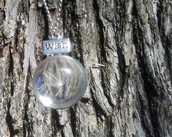 "Dandelion Sphere ""Wish"" Necklace"