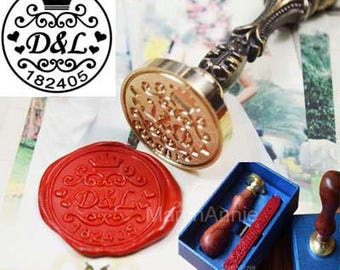 Personalized Wax Seal Stamp,you name wax stamp,Wedding gift