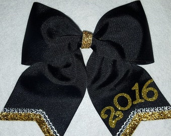 2017 / 2018 Hairbow - Black and Gold with Rhinestones