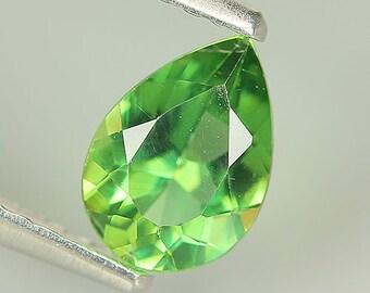 Beauty 0.70 Ct Natural Unheated Green APATITE Pear Gem