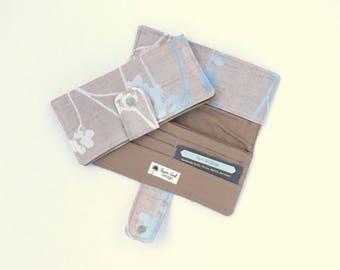 Large Women Wallet   Zippered Wallet   Canvas Wallet   Checkbook Wallet   Credit Card Wallet   Womens Full Wallet   Handmade Wallet