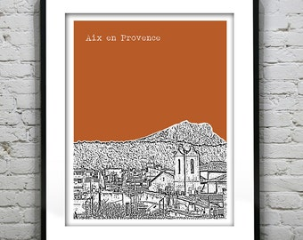 Aix en Provence France Poster City Skyline Art Print Version 1