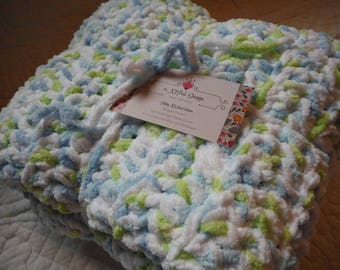 Variegated Soft Cable Baby Blanket