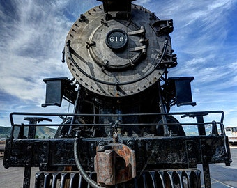 Heber Creeper Historic Locomotive, Wasatch Mountains, Utah Photography, Steam Train Engine, Railroad, Fine Art Photo Print, Wall Art Decor