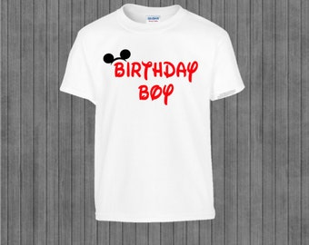 ON SALE!!  Red Mouse Birthday Boy Iron on Transfer, Family, Printable