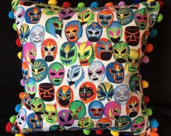 Lucha Libre Wrestlers Masks Cushion