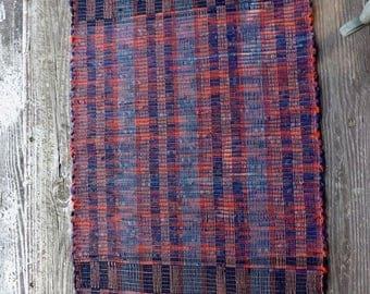 """Handwoven Wool Rag Rug  25"""" x 30"""""""
