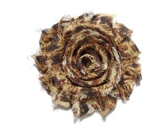 Cheetah Print Hair Clip - Cheetah Flower Clip - Girls Flower Clip - Girls Flower Hair Flower - 2.5 inch