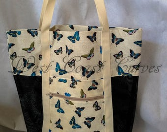 Butterfly Print Market Bag