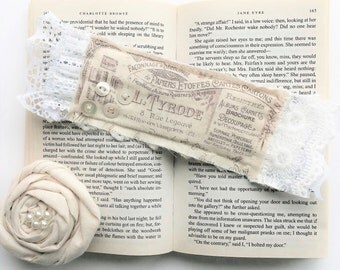 Lace Fabric Bookmark - French Vintage Inspired Bookmark - White Lace Bookmark - Booklovers Gift - Gift For Readers - Handmade Bookmark