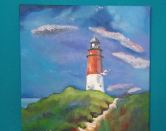 Lighthouse (1 original acrylic painting)