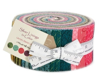 Moda Laundry Basket Quilts Edyta Sitar Silver Linings Color Jelly Roll 42 2.5 Inch Strips Fabric
