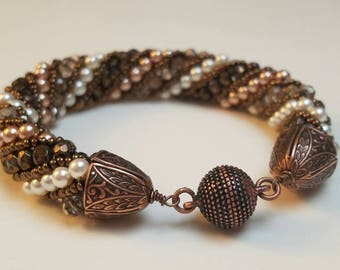 Champagne Russian Spiral Bracelet