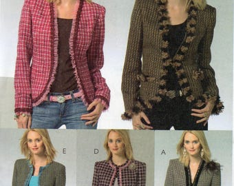LINED JACKETS McCall's Pattern 4972 Misses Sizes 14 16 18 20