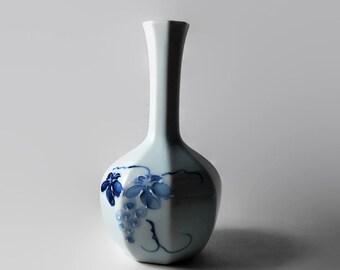 Vintage Floral Porcelain Vase, Andre Richard, Hand Painted Bud Vase, Japan