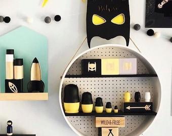 Batman Black and Yellow Steelers Nesting Dolls Matrioska Matryoshka