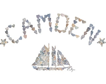 Camden card, Camden Maine, Camden love, Maine lobster, Schooner, Sailboat, Maine love, Maine note card, Maine coast