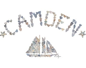 Camden card, Camden Maine, Camden love, Maine lobster, Schooner, Sailboat, Maine love, Maine note card, Maine coast, Maine gifts