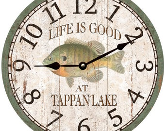 Personalized Bluegill Clock