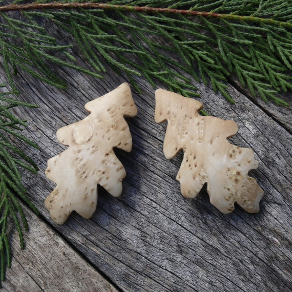 Pair of small Oak leaf hair barrettes, Hair combs, Small hair clips for Bangs, Bobby pin, Child's hair bow clips, 50mm French Barrette Clasp