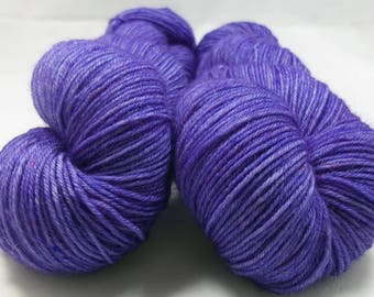 Speckled Wisteria - Hand Dyed Charlie Sock Yarn - Superwash Merino Fingering