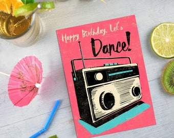 Retro Radio Birthday Card