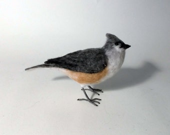Tufted Titmouse needle felted bird