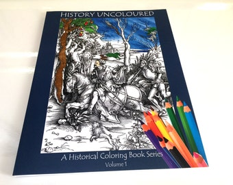 History Uncolored Coloring Book