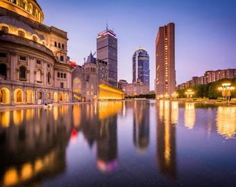The Christian Science Plaza, Boston, Massachusetts. | Photo Print, Stretched Canvas, or Metal Print.