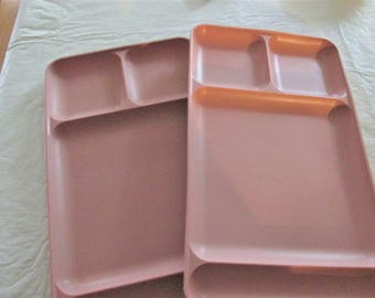 Vintage 2 Tupperware Divided Trays