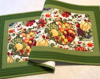 Quilted Fruit Salad Table Runner, Table Topper