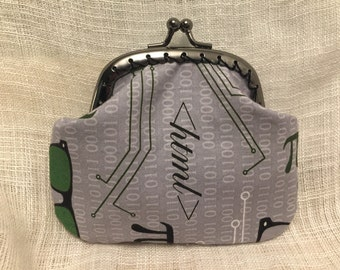 Binary Print Coin Purse