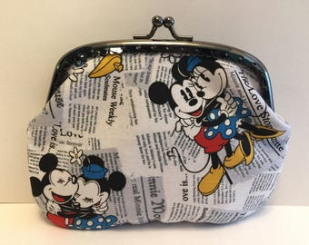 Large Mickey and Minnie Mouse Coin Purse