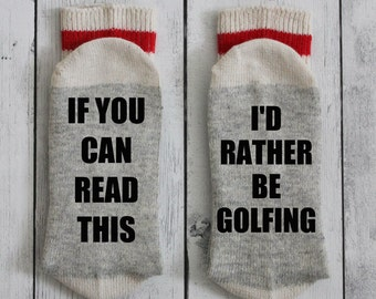 I'd Rather be golfing socks, golfing, golfer, dad, grandfather, Christmas gift, golf, Christmas gift, father's day, beer socks, wine socks