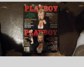 Playboy Magazine Entertainment For Men January 1993 Barbi Twins Issue