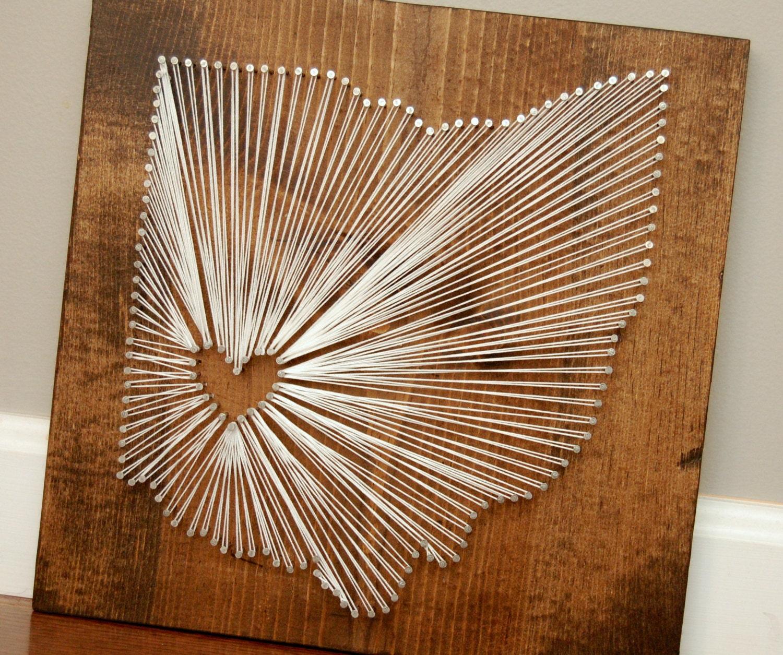 Wedding Gift String Art : Xenia Ohio String Art Wedding Gift Going Away Gift Parent
