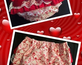 Cute Little Valentine's Ruffle Diaper Cover