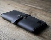 iPhone 6 PLUS Wallet Case - PERSONALIZED Dark Colored Leather iPhone 6 PLUS Wallet Clutch Case by JooJoobs [066]