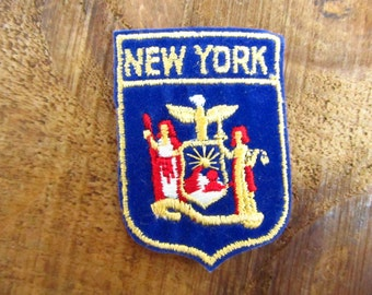 Vintage New York  Patch - New York Souvenir Patch -  New York Voyager Sampson's Badge Patch