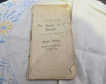 Antique Psychic Book - The Psychic in a Nutshell - Amateur Psychic Readers - Psychic Club Book