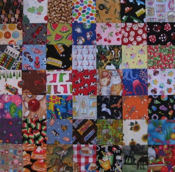 I spy childrens 5 quilt fabric squares set of 49 for Childrens quilt fabric