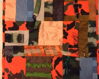 A Hunter's Day Fidget Quilt / Sensory Blanket